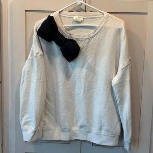 Kate spade black bow sweatshirt live colorfully